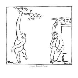 700,000 Years of Progress - New Yorker Cartoon by Alfred Frueh