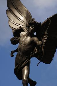 Statue of Anteros, or the Angel of Christian Charity, Shaftesbury Memorial Fountain, Piccadilly… by Alfred Gilbert