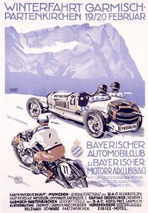 Winterfahrt Garmisch, Partenkirchen Car Race by Alfred Hierl