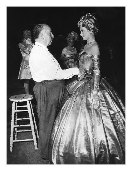 Alfred Hitchcock, Grace Kelly 'To Catch A Thief' 1955-Hollywood Historic Photos-Art Print