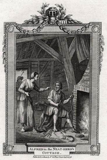 Alfred in the Neat-Herd's Cottage, 1776-I Hall-Giclee Print