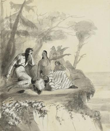 An Indian Girl Complaining by Alfred Jacob Miller