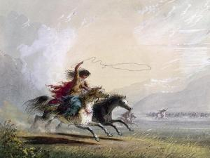 Miller: Shoshone Woman by Alfred Jacob Miller