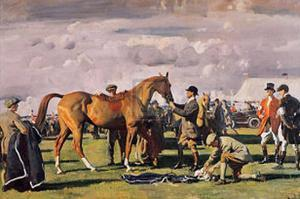 The Red Prince Mare by Alfred James Munnings