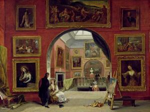 Interior of the Royal Institution, During the Old Master Exhibition, Summer 1832, 1833 by Alfred Joseph Woolmer