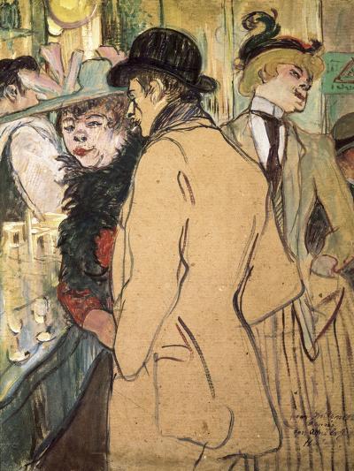 Alfred La Guigne-Henri de Toulouse-Lautrec-Art Print