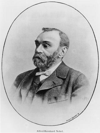 "Alfred Nobel Illustration from ""La Revue Illustree,"" 1902--Premium Giclee Print"