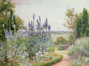 Garden Near the Thames by Alfred Parsons