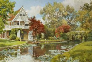 The Boathouse by Alfred Parsons