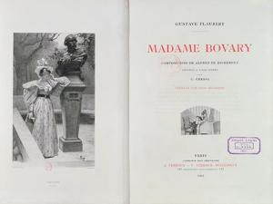 Frontispiece of 'Madame Bovary' by Gustave Flaubert, Engraved by Carlo Chessa by Alfred Paul Marie Richemont
