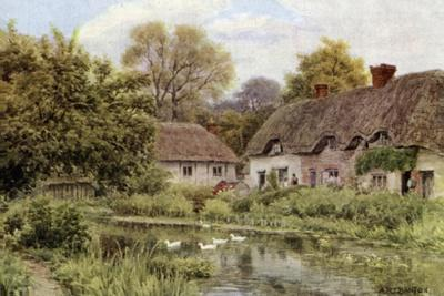 Cottages at Lake, Near Salisbury, Wilts