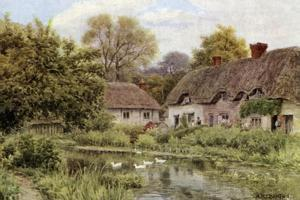 Cottages at Lake, Near Salisbury, Wilts by Alfred Robert Quinton