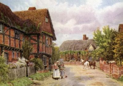 Cottages, East Hagbourne by Alfred Robert Quinton