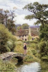 Footbridge, Near Porlock, Somerset by Alfred Robert Quinton