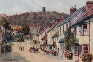 High Street, Dunster by Alfred Robert Quinton