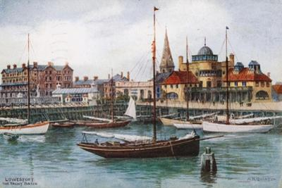 Lowestoft, the Yacht Basin by Alfred Robert Quinton