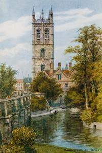Magdalen College and River, Oxford by Alfred Robert Quinton