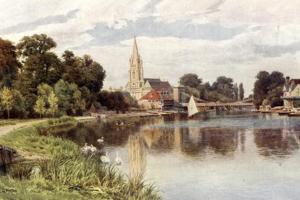 Marlow Bridge by Alfred Robert Quinton