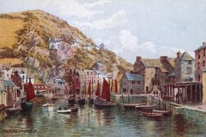 Polperro Harbour by Alfred Robert Quinton