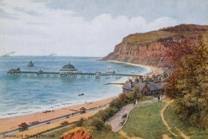 Shanklin Head and Pier, I W by Alfred Robert Quinton
