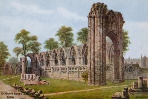 St Mary's Abbey, York by Alfred Robert Quinton