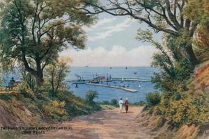 The Harbour, from Langmoor Gardens, Lyme Regis by Alfred Robert Quinton