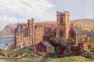 University and Parish Church, Aberystwyth by Alfred Robert Quinton