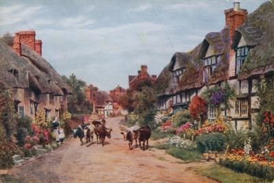 Wrye Village, Lancashire by Alfred Robert Quinton