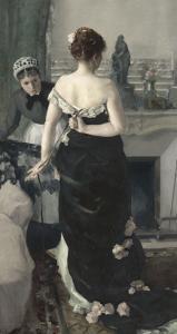 Retour du bal by Alfred Roll