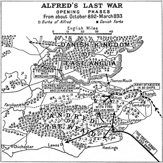 'Alfred's Last War - Opening Phases. From about October 892-March 893', (1935)-Unknown-Giclee Print