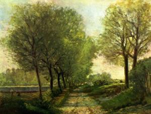 A Lane Near a Small Town by Alfred Sisley