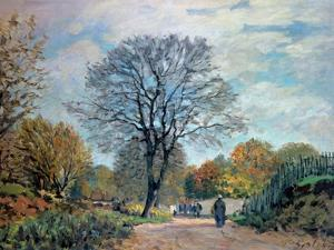 A Road in Seine-Et-Marne, 1878 by Alfred Sisley