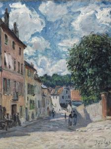 A Street, Possibly in Port-Marly, 1876 by Alfred Sisley