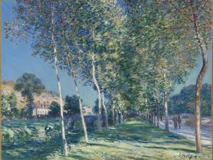 Allée de peupliers aux environs de Moret-sur-Loing by Alfred Sisley