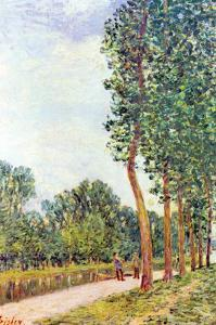 Banks of the Loing in Moret by Alfred Sisley