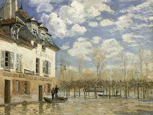 Boat In The Flood by Alfred Sisley