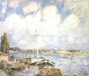 Boats of the Seine by Alfred Sisley