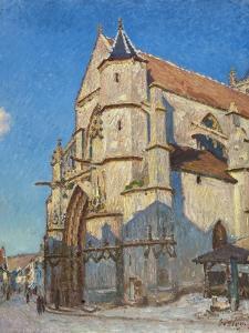 L'Eglise de Moret (le soir) by Alfred Sisley