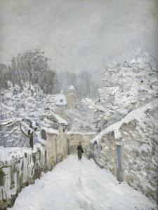 La neige à Louveciennes (Yvelines) by Alfred Sisley