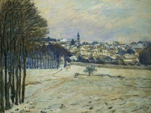 La Neige a Marly-Le-Roi, 1875, Snow at Marly-Le-Roi by Alfred Sisley