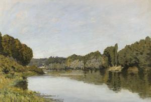 La Seine à Bougival by Alfred Sisley
