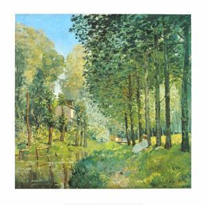 Le Repos au Bord du Ruisseau , 1872 by Alfred Sisley