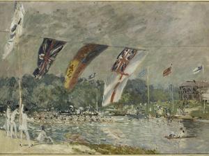 Les régates à Molesey (près de Hampton Court, Angleterre) by Alfred Sisley