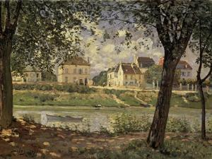 Little Town on the River Seine by Alfred Sisley