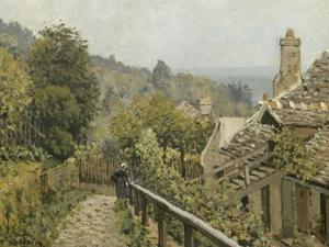Louveciennes. Sentier de la Mi-Côte dit autrefois Hauteurs de Marly by Alfred Sisley