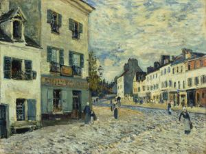 Market Square in Marly, 1876 by Alfred Sisley