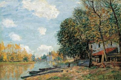 Moret. the Banks of the River Loing, 1885 by Alfred Sisley