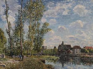 Moret, View of the Loing an Afternoon in May; Moret, Vue Du Loing, Apres-Midi De Mai by Alfred Sisley