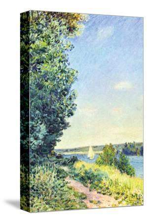 Normandy, Path on the Water, in the Evening at Sahurs