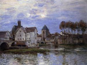 Pont De Moret at Sunset; Le Pont De Moret Au Soleil Couchant, 1892 by Alfred Sisley